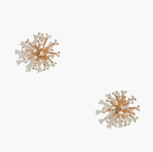 Crystal firework stud earrings